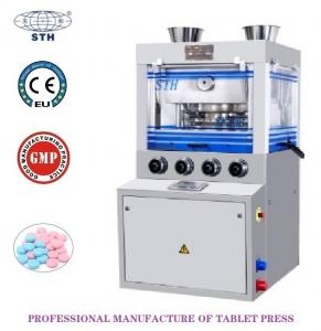 Quality 80KN Double Pressure High Speed Pharmaceutical Chemical Tablet Press Machine With PLC and Touch Screen Control wholesale