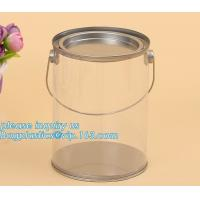 Quality 100ml pet clear plastic can,fruit candy tin container jars with aluminum lid,1 gallon clear paint can size bagease pack wholesale