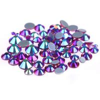 Cheap 14 / 16 Facets Small Rhinestone Studs , Glass Material Pink Loose Rhinestones for sale
