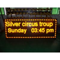 Quality Digital Yellow Led Scrolling Message Sign Advertising 1/8 Scan 192 * 192 wholesale