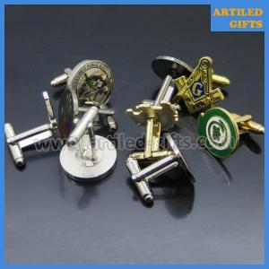 Quality Metal material gold/silver finish enamel logo high quality custom cuff links wholesale