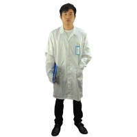Quality Cleanroom Lab Blue White Static Dissipative ESD Smock wholesale