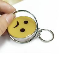 Quality Smiling Face Custom Logo Keychains Yellow Circle With Eco-friendly Metal wholesale