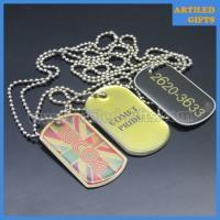 Quality Cheap garment decoration custom offset printing metal dog tags with ball chain wholesale