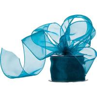 Quality Wide Polyester Organza Ribbon Narrow Woven Technics Various Colours wholesale