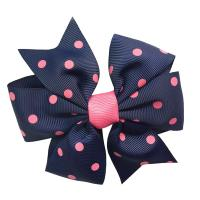 Quality Soft Feeling Kids Hair Ribbons , Various Color Custom Made Hair Bows wholesale