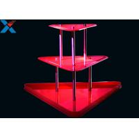 Quality Crystal Clear Acrylic Display Stands 3 Layer Lucite Wedding Wine Stand wholesale