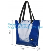 Quality 1000D Waterproof PVC Tarpaulin Customized Shopping Bag, Daily Women Shoulder Tote Bags Wholesale Price wholesale
