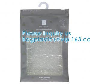 Quality BiodegradableHanger Bag With Zip Lock On The Top, Frosted K Bag Hanger Bag For Clothes, EVA Frost Drawstring Bag wholesale