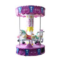 Quality Small 3 Seats Indoor Kids Carousel Rides For Amusement 1 Year Warranty wholesale