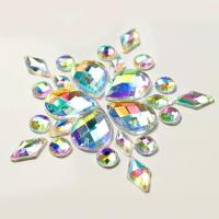 Quality Colorful Pear Shaped Sew On Glass Crystals , Extremely Shiny Sew On Gemstones wholesale