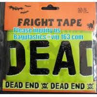Quality Rolls Halloween Caution Party Tape,Party halloween banner , plastic streamer caution party tape, fright tape bagease wholesale