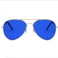 Quality Metal Frame Blue Light Therapy Glasses See Color Feel Good wholesale