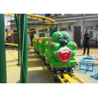 Quality Green Worm Shape Kiddie Roller Coaster For Large Parks And Tourist Attractions wholesale