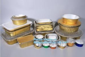 Quality Rectangle Shaped Disposable Aluminum Foil Pan Take-Out Food Containers With Aluminum Lids/Without Lid wholesale