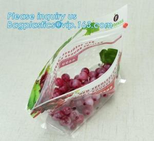 Quality fruit bag with holes sandwich slider zip deli bag, slider zip bag for fresh fruit packaging, grape bag with hole/ slider wholesale