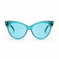 Quality Cateye PC Frame Aqua Lens Blue Light Therapy Glasses For Relax wholesale