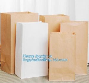 Quality Custom bakery paper bag / Food grade bread packaging bags, white or brown craft paper bag,greaseproof kebab sandwich bre wholesale