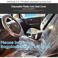 Quality Biodegradable Compost Car Floor Mat Auto Disposable Steering Wheel Seat Cover Interior Accessories Steering Tire Bags wholesale