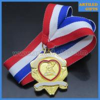 Quality Women of the Moose chaplain enamel gold medal with triple color ribbon wholesale