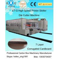 Quality Adjustable Carton Making Machine With Remote Computer Diagnosis System , Stacker wholesale