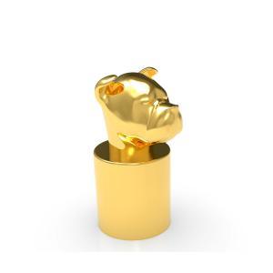 Quality Custom Dog Head Gold Fasion ISO 9001 Perfume Bottle Caps wholesale