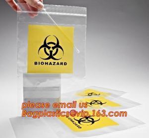Quality Biohazard LDPE lab specimen zipper bag customized Printing medicine bags, Pathology Specimen Medical Zipper Bag With Pri wholesale