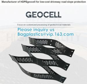 Quality Plastic Hdpe Cellular Textured Gravel Stabilizer Typar Geocell Recycled Plastic Pavers Textured Perforated Driveway wholesale