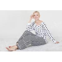 Quality Comfortable Dotted Womens Pyjama Sets Long Sleeve Top And Pants Soft Handfeel wholesale