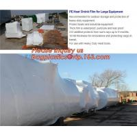Quality biodegradable shrink wrap 200 mic construction industrialJumbo construction industrial uv shrink wrap for yacht covering wholesale