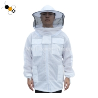 Quality Cotton Polyester Bee Veil And Jacket Beekeeping Protective Clothing wholesale