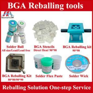Quality BGA reballing kit stencils BGA solder ball and Solder paste, One-step BGA reballing solution wholesale