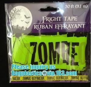 Quality Halloween Caution Tape , Custom Printing Caution Tape Halloween Banner,Halloween Caution Tape zebra tape bagease pack wholesale