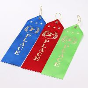 Quality Logo Printing Custom Award Ribbons 100% Polyester Material Single Face wholesale