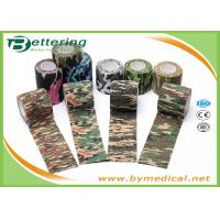 Quality Army Camping Hunting Camouflage Pattern Printing Non Woven Self Adhesive Elastic Bandage wholesale
