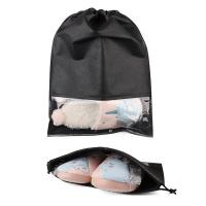 Quality Black Color Printing Logo Design Custom Drawstring Bags Lightweight Non Woven Cloth wholesale