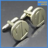 Quality Quality gifts for man Shiny silver plating debossed Z Letter cuff links wholesale