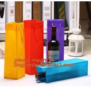 Quality Ribbon Handle eco friendly Plastic PP Package Bag for Flowers Bouquet,Semitransparent PVC Plastic Tote Bag Environmental wholesale