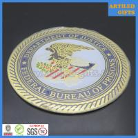 Quality Federal Bureau of prisons Department of justice metal tag with 3M sticker wholesale