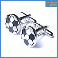 Quality Silver plated football shape mens cufflinks with enamel filling color wholesale