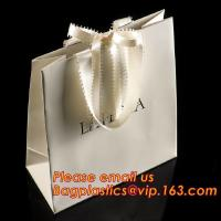 Quality luxury paper shopping bag for jewellry, twist handle luxury print fancy brown kraft art paper carrier bag wholesale wholesale