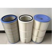 Quality HEPA Air Pleated Filter Cartridge For Dust Collector 0.2 Micron Porosity wholesale