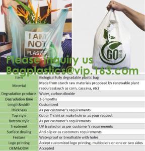 Quality Tougher Stronger Market Bags, freezer Eco Friendly Pla Compostable Corn Starch Garbage Bag Rubbish/Trash Bag Biodegra wholesale