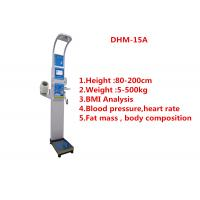 Medical BMI Coin operated body fat Composition height weight measuring machine with printing and blood pressure