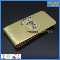 Quality Shiny gold plated NJ Paterson Police Atheletic League brass money clip wholesale