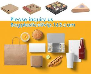Quality Custom Printed Corrugated Cardboard Recycle Paper Pizza Box Custom Kraft Paper Pizza Box, Fast Food Box wholesale