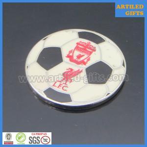 Quality Nickle plating hard enamel UK LFC Liverpool Football club zinc alloy metal tag wholesale