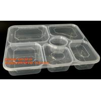 Quality Disposable biodegradable plastic fiffin lunch box,compartment lunch box with lid,clamshell food packaging macaron pp bli wholesale