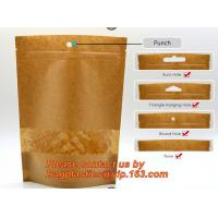 Quality custom resealable recyclable kraft paper square bottom zipper bag, standup Zipper seal Kraft Paper Coffee Bag with Side wholesale