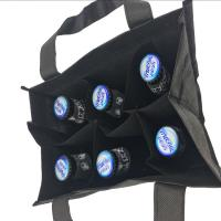 Quality Durable Reusable Printed Non Woven Carry Bags , 6 Bottle Wine Tote Bags wholesale